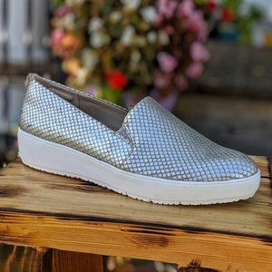 Dr. Scholl's Originals Rayne Silver Snake Slip Ons